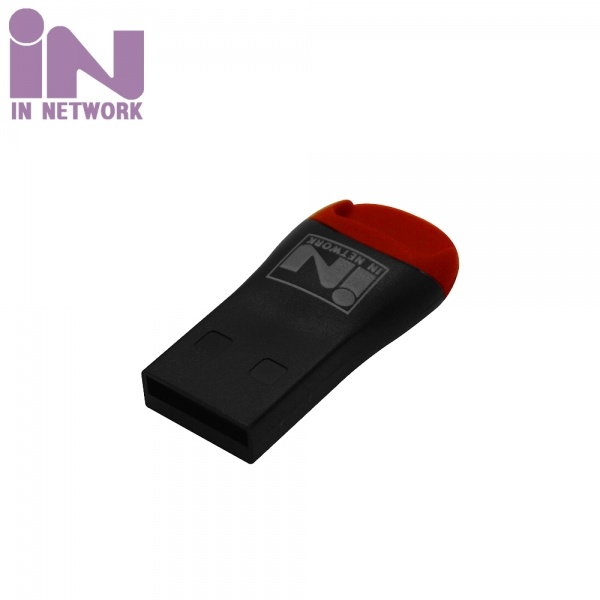 [IN NETWORK] 카드리더기, TF(Micro SD) [IN-UMSD] [블랙]