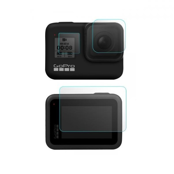 6장 2세트 고프로 히어로8 전용 렌즈 액정 보호 강화 유리 필름