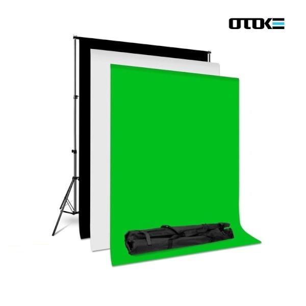 오토케 촬영 배경천 + 스탠드 세트