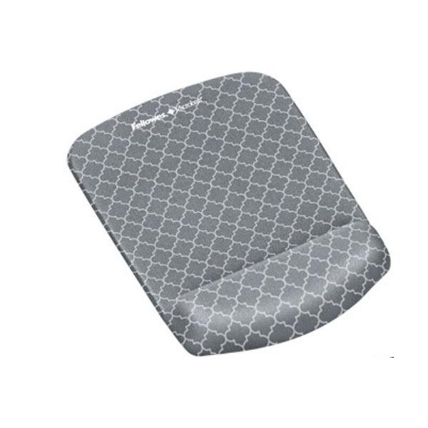 [Fellowes] 손목보호 마우스패드, 플러쉬 터치 패턴 95497 [그레이]