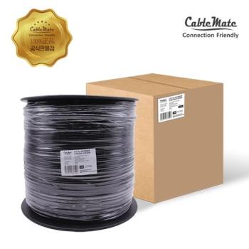 [CableMate] 케이블메이트 CAT.5E UTP 옥외용 랜케이블 305M [1롤/블랙] [CM-5U305]