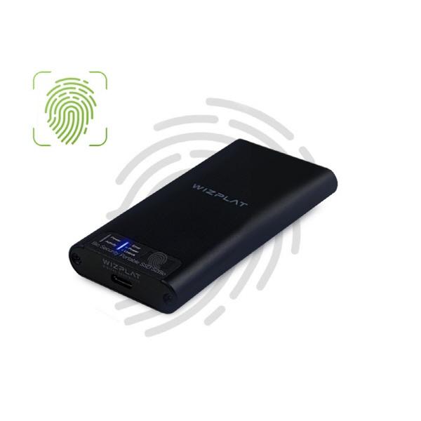 [위즈플랫] 외장SSD, S2Bio 지문인식 포터블 SSD
